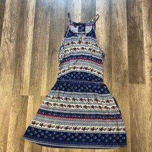 Red and blue sundress